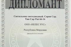 Диплом 100 лучших товаров России Новинка Cap Flat 66-16